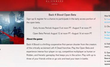 Back4Blood Open Beta